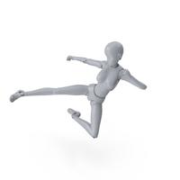 Mannequin Female Kick PNG & PSD Images