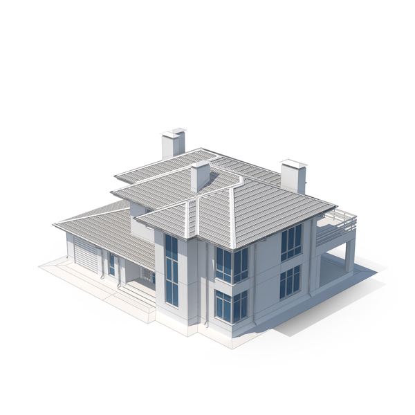 Villa Building Sketch PNG & PSD Images