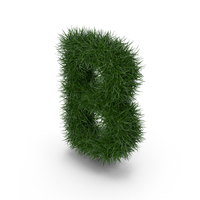 Grass letter B PNG & PSD Images