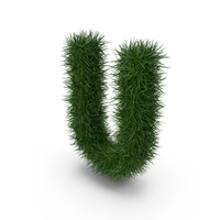 Grass Letter U PNG & PSD Images
