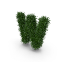 Grass letter W PNG & PSD Images