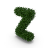 Grass Letter Z PNG & PSD Images