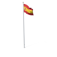 Flag On Pole Spain PNG & PSD Images