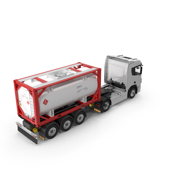 ISO20 Tank Trailer PNG & PSD Images