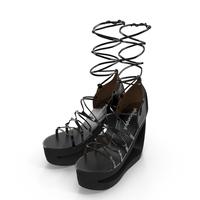 Lace-Up Platform Sandals PNG & PSD Images