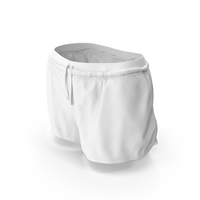 Women's Sport Shorts White PNG & PSD Images
