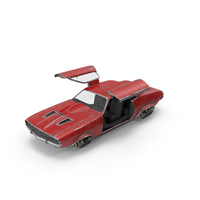 Red Flying Sport Car Doors Open PNG & PSD Images