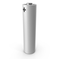White Metallic AA Battery PNG & PSD Images