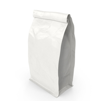 Flat Bottom Pouch 113g Closed White PNG & PSD Images