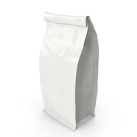 Flat Bottom Pouch 250g Closed White PNG & PSD Images