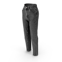 Women's Jeans Dark Gray PNG & PSD Images