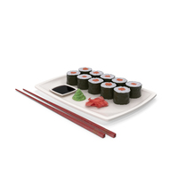 Sushi Maki Plate PNG & PSD Images