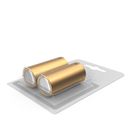 2 Pack Battery Gold PNG & PSD Images