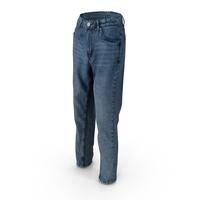 Women's Jeans Dark Blue PNG & PSD Images