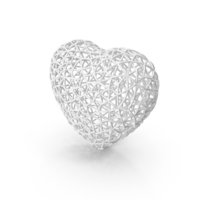 White Wire Heart PNG & PSD Images