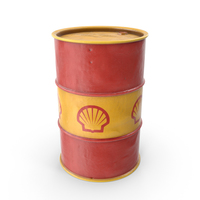 Shell Oil Barrel PNG & PSD Images