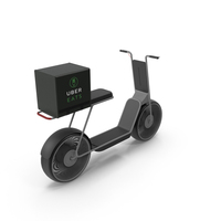 Uber Eats Delivery Scooter PNG & PSD Images