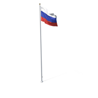 Flag On Pole Russia PNG & PSD Images