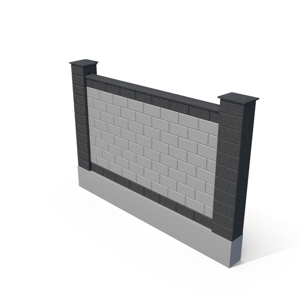 Brick Fence PNG & PSD Images