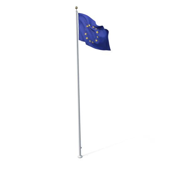 Flag On Pole EU PNG & PSD Images