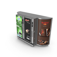 Vending Machines With Lightboxes PNG & PSD Images