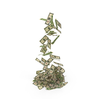 2 Dollar Bills Falling PNG & PSD Images