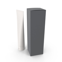 Cosmetic Container and Grey Box PNG & PSD Images