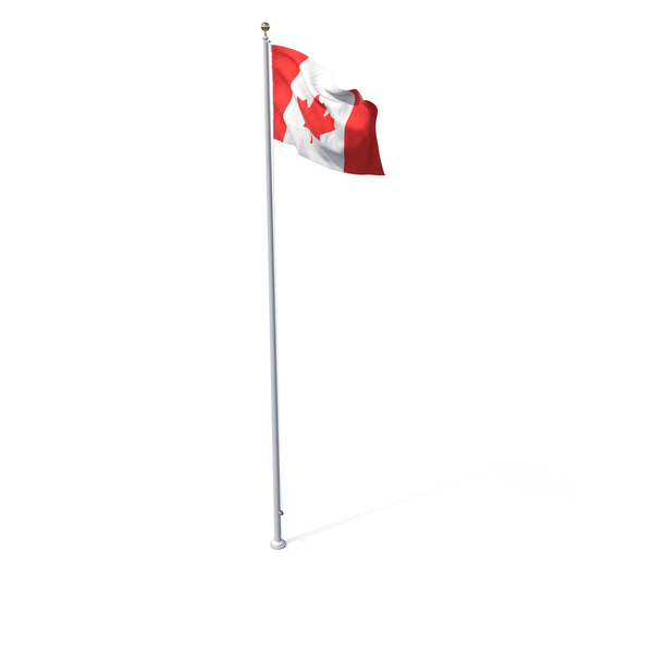 Flag On Pole Canada PNG & PSD Images