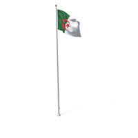 Flag On Pole Algeria PNG & PSD Images