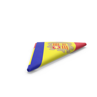 Flag Folded Triangle Andorra PNG & PSD Images