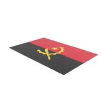 Flag Laying Pose Angola PNG & PSD Images