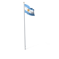 Flag On Pole Argentina PNG & PSD Images