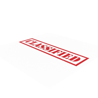 Classified Stamp PNG & PSD Images