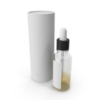 Tube Packaging Box and Dropper Bottle PNG & PSD Images