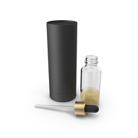 Dropper Bottle With Black Tube Package PNG & PSD Images