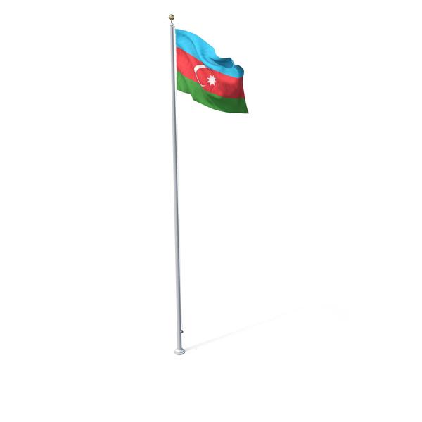 Flag On Pole Azerbaijan PNG & PSD Images