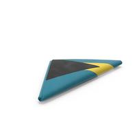 Flag Folded Triangle Bahamas PNG & PSD Images