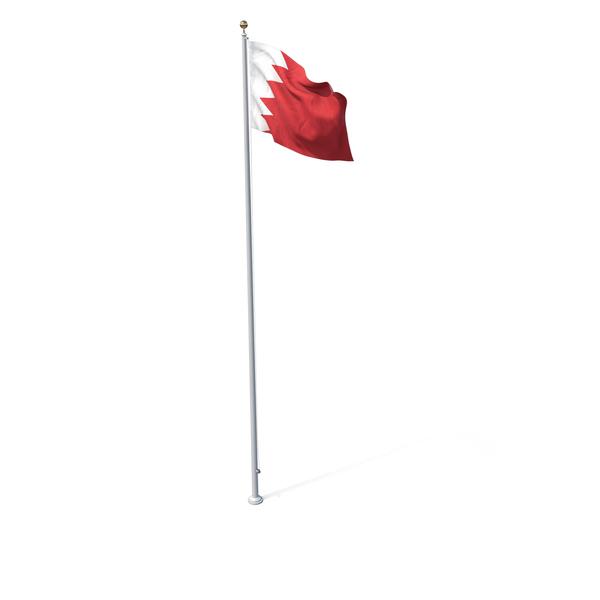 Flag On Pole Bahrain PNG & PSD Images