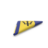 Flag Folded Triangle Barbados PNG & PSD Images