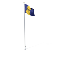 Flag On Pole Barbados PNG & PSD Images