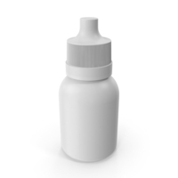 White Bottle with Dropper PNG & PSD Images