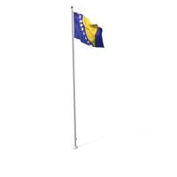 Flag On Pole Bosnia and Herzegovina PNG & PSD Images