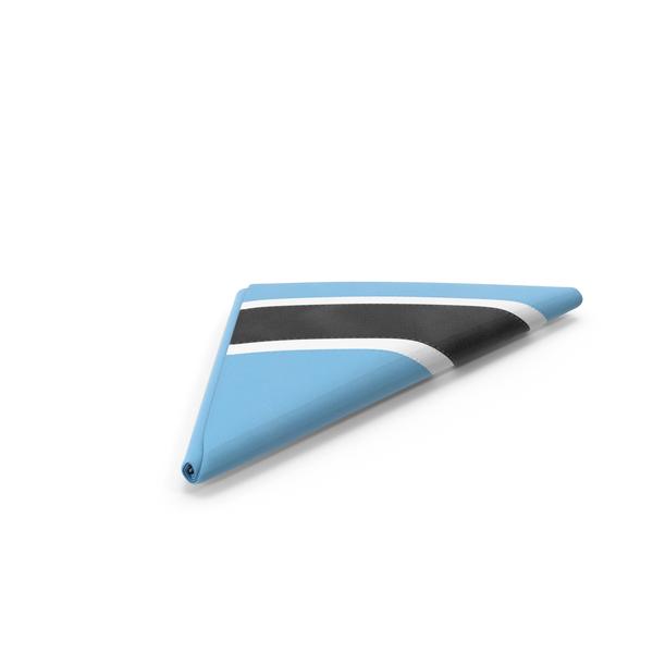 Flag Folded Triangle Botswana PNG & PSD Images