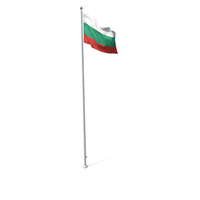 Flag On Pole Bulgaria PNG & PSD Images