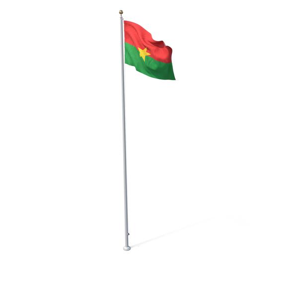Flag On Pole Burkina Faso PNG & PSD Images