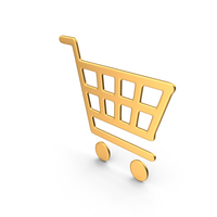 Gold Shopping Basket Icon PNG & PSD Images