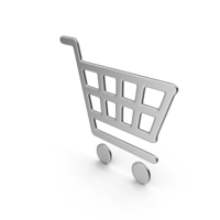 Silver Shopping Basket Icon PNG & PSD Images