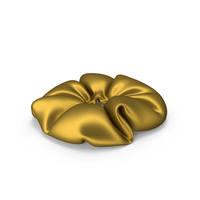 Hair Scrunchie Gold PNG & PSD Images