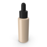 Black Cap Bottle with Foundation PNG & PSD Images