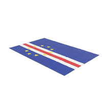 Flag Laying Pose Cape Verde PNG & PSD Images
